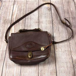 DOONEY & BOURKE Brown Leather Messenger Purse